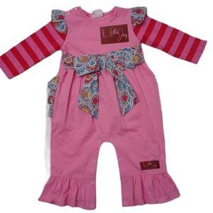 Millie Jay girls pink bodysuit size 12 months